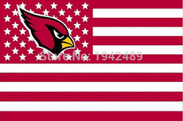 Large Arizona Cardinals Football Flag Banner 3x5 FT with Metal Grommets - £13.37 GBP