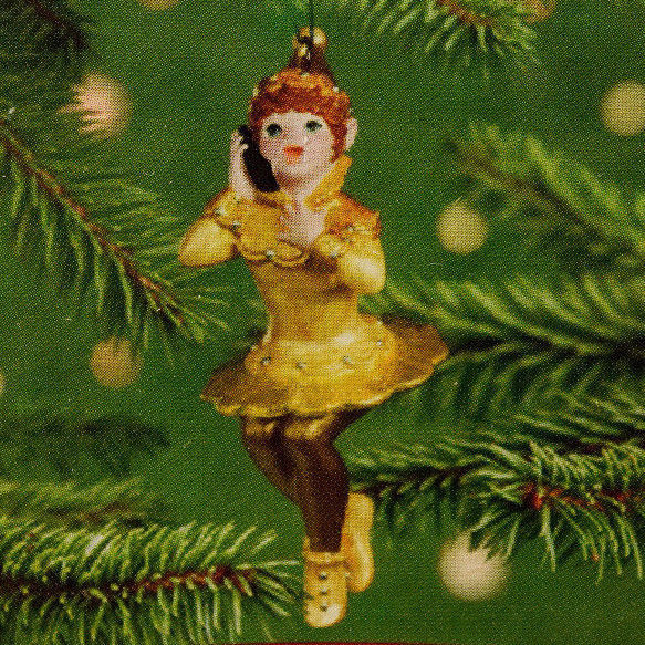 Hallmark: Friendship Elves - Gold - 1 of 2 Ornaments - 2001 Holiday Ornament