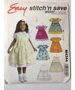 Stitch 'n Save 4344 Size 1 2 3 Toddlers' Dress Pinafores - $11.64