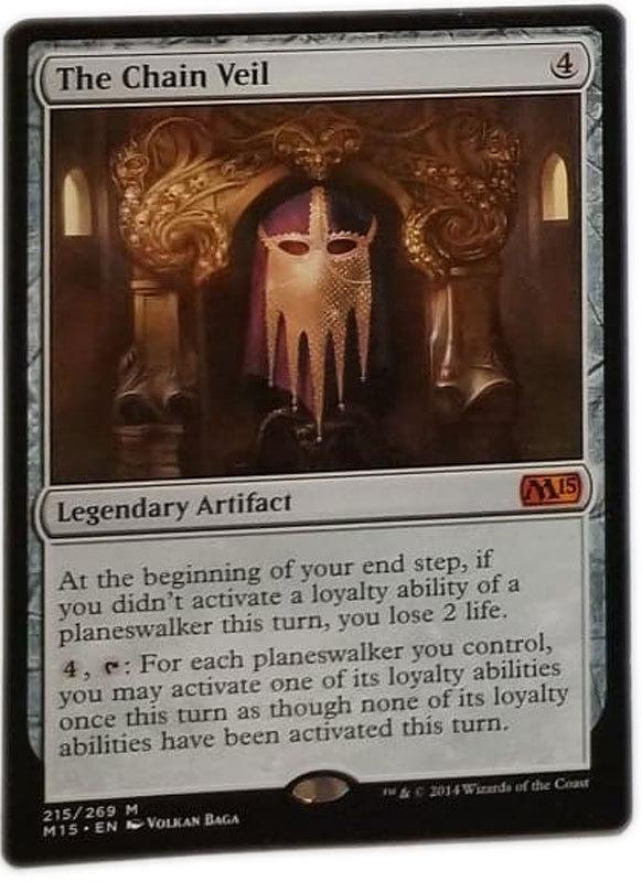 """Magic the Gathering MTG """"The Chain Veil"""" Rare M15 Card x1 * NM"""