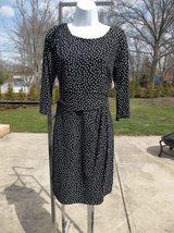 NWOT ANN TAYLOR BLACK&WHITE DOT KNIT DRESS 12P - $19.99