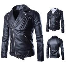 2018 new arrive brand motorcycle leather jackets men ,men's leather jack... - $51.30