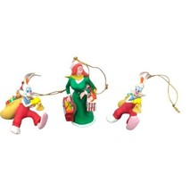 Lot of 3 Disney Grolier Who Framed Roger Rabbit With Jessica Christmas O... - $19.79