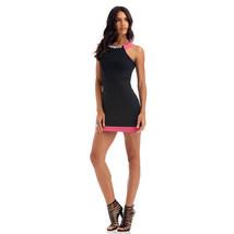 Nicki Minaj Women's Sleeveless Jeweled Collar Bodycon Clubwear Dress Size L - $19.79