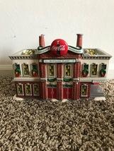 VINTAGE 1993 Dept. 56 Snow Village Coca Cola Bottling Plant w/ 4 piece S... - $74.99