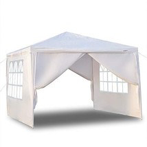 Crazyworld 10' x 10' Outdoor Canopy Wedding Party Tent,with vingli 4 Rem... - $47.65