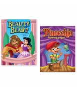 Bundle of 2 Beauty and the Beast and Pinocchio Coloring Books - $8.79