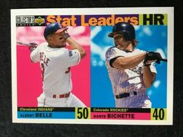 BASEBALL TRADING CARD UPPER DECK 1996 STAT LEADERS  #3 HR    (SS45) - $4.17