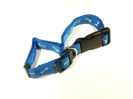 "Greenbrier Kennel Club 1"" Adjustable Dog Collar "" Blue~Bones "" LG (18""- 24"")"