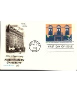 FDC POSTCARD- NORTHEASTERN UNIVERSITY -  1998,  ARTCARFT CACHET  BK17 - $1.47