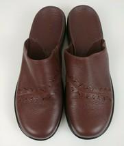 Clarks Women's Brown Slip On Leather Slides Mules Clogs  Sz 9M  #74616 - $23.36