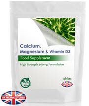 Calcium, Magnesium & Vitamin D3 - 60 Tablets - Bones, Teeth, Skin Suppor... - $5.59
