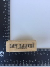Happy Halloween Rubber Stamp 2007 Stampin Up Fall Holiday - $3.70
