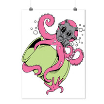 Octopus Cartoon Fantasy Toxic Gas Matte/Glossy Poster A0 A1 A2 A3 A4 | W... - $7.99+