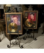 Elvis Presley LE 24K Gold Plated Number One Hits & Top Ten Records Frame... - $2,495.00