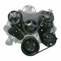 Small Block Chevy Serpentine Front Drive System Complete Kit BLACK image 9
