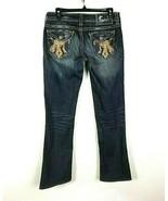 Mek Denim Mens Size 28 x 30 Jeans Santiago Distressed Flap Pockets Denim... - $37.09