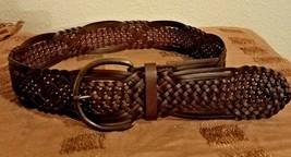 Women's Dark Brown Belt ~ Bonded Leather ~ Size Medium - $13.98