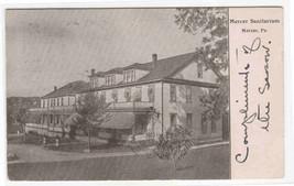 Mercer Sanitarium Mercer Pennsylvania 1905 postcard - $6.93