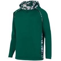 Augusta 5539 Youth Mod Camo Hoody - Dark Green/Dark Green Mod - $26.11