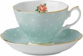 Royal Albert POLKA Rose TEA CUP AND SAUCER NEW No box or tag - $42.08