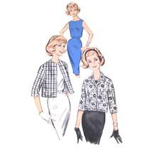 60s Vintage Butterick Sewing Pattern 9701 Junior Sheath Dress Cropped Ja... - $6.95