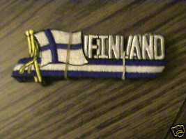 100% EMBROIDERED FINLAND  RARE COLLECTABLE FLAG  PATCH - $6.56