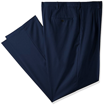 Haggar Men's Big and Tall Cool 18 Pro Classic Fit Pleat Front Expandable... - $35.00