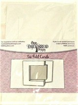 Tri-Fold Card Bases, White, Set of 6 by Our Daily Bread Designs