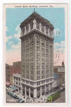 Lincoln Bank Building Louisville Kentucky 1938 postcard - $5.94