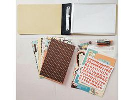"S.E.I. Scrapbook in a Bag, Paisley & Petals, an Autumn 4"" x 6"" Memory Book Kit image 3"