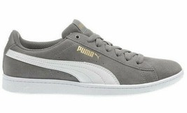 NEW PUMA Ladies Womens Suede Vikky Gray Tennis Gym Shoes Sneakers image 2