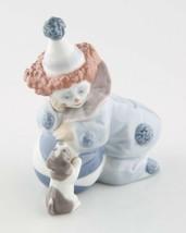 Lladro Pierrot Clown w/ Puppy Decorative Figurine 5278 Porcelain Hand Ma... - $98.99