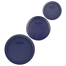 Pyrex 1 7200-PC 2 Cup 1 7201-PC 4 Cup 1 7202-PC 1 Cup Blue Replacement Lids - £11.57 GBP