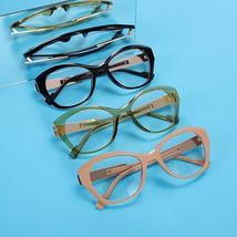 Vintage Cat Eye Glasses Frames Women Men Luxury Brand Fashion Optical Clear Lens image 6