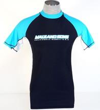 Maui and Sons Black & Blue Short Sleeve Rashguard Surf Shirt Rash Gu... - $44.99