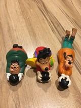 Vintage Burger King Goof Troop Bowling 3 Tuts Goofy Max Pete Kids Club Toys - $9.25