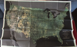 "Vintage 1976 MAP & PORTRAIT U.S.A. National Geographic 28"" x 42"" NICE SE... - $8.60"