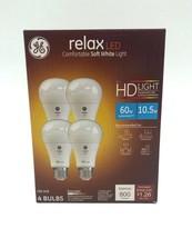 GE Lighting Relax LED Comfortable Soft White Lightbulbs 4 Pack 10.5W 800 Lumens - $24.74