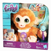 Fur Real Check Up Zandi Soft Plush Baby Monkey Toy Playset - $29.95
