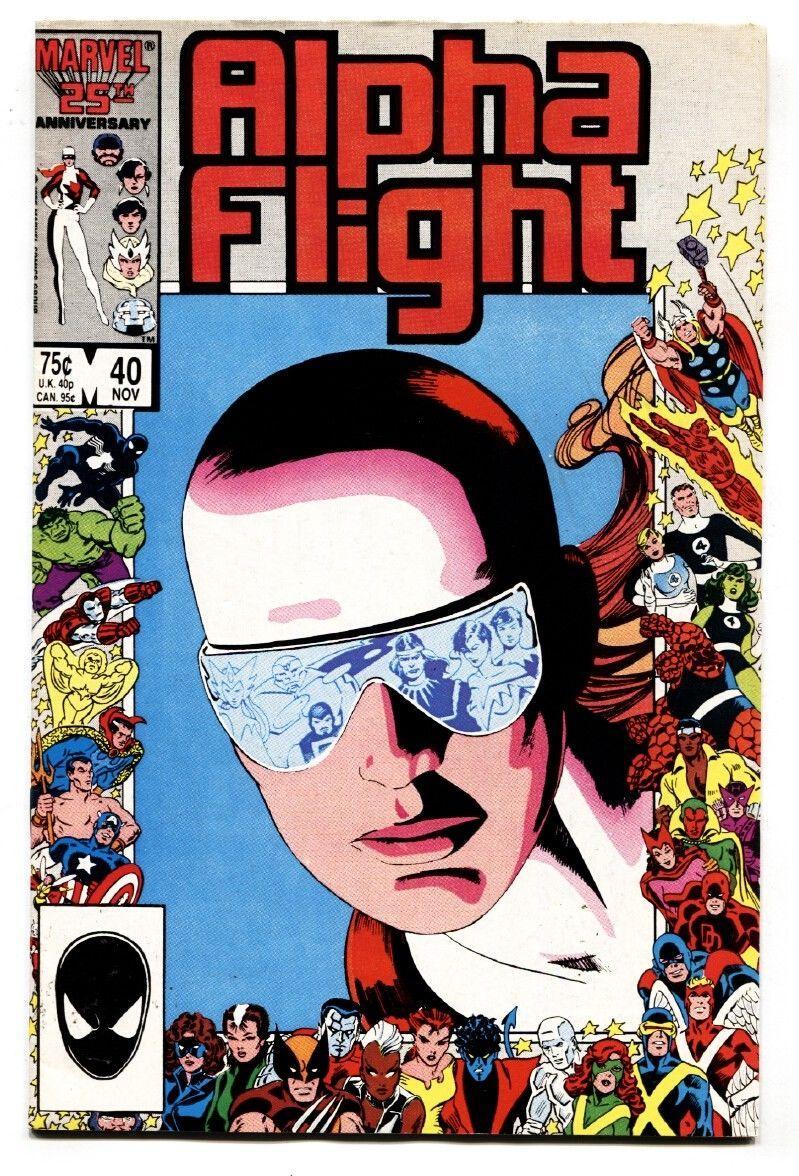 ALPHA FLIGHT #40-MARVEL COMICS-MUTANTS! VF- - $14.90