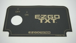 Ezgo Golf Cart Dash Key Switch Name Plate Black and Gold - $24.49