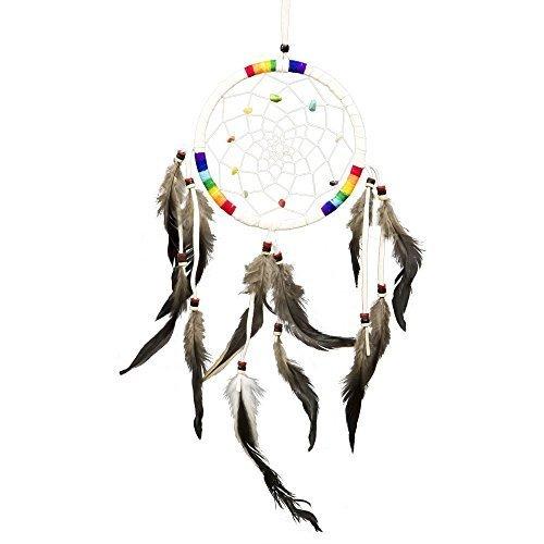 7 Chakras Dreamcatcher (White, 5.5 inches) - $20.00
