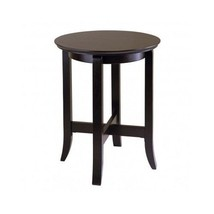 Wooden End Table Winsome Round Furniture-Dark E... - $99.99