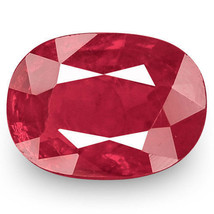 IGI Certified MOZAMBIQUE Ruby 0.69 Cts Natural Untreated Deep Red Oval - $759.00