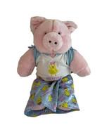 "Build A Bear Workshop Original 18"" Pink Pig Plush Retired PJs Wired Ears - $28.01"