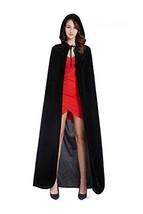 "Diffly 59"" Velvet Hooded Cape Unisex Halloween Cloak Devil Witch Wizard ... - $23.40"