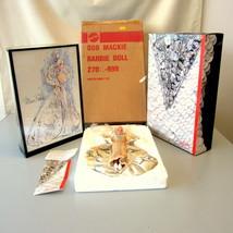 1991 Mattel Barbie Doll #2703 Bob Mackie Platinum W/Shipper & Display Ca... - $45.00