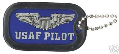 Primary image for USAF AIR FORCE PILOT MILITARY  DOG TAG