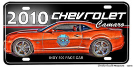 2010 Chevrolet Camaro Indy 500 Pace Car Aluminum License plate - $13.81